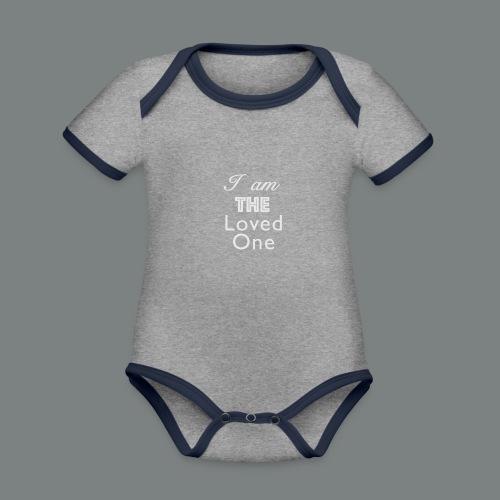 The loved one - Ekologisk kontrastfärgad kortärmad babybody