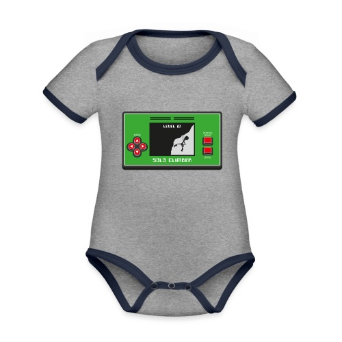Solo Climber Telespiel - Baby Bio-Kurzarm-Kontrastbody