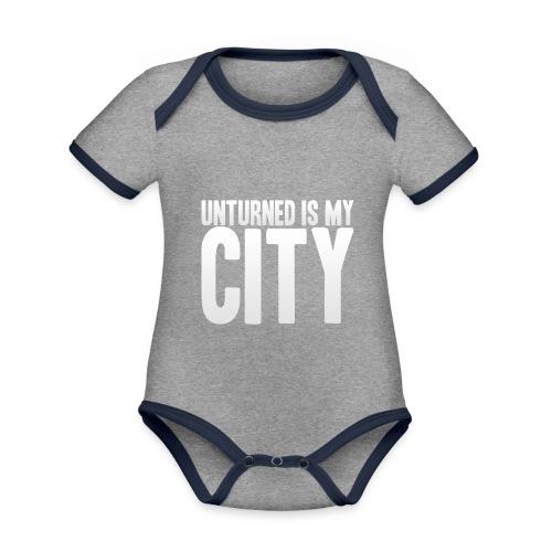 Unturned is my city - Organic Baby Contrasting Bodysuit