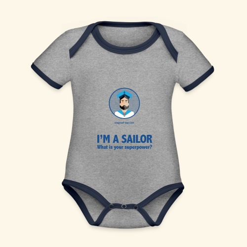 SeaProof Superpower - Baby Bio-Kurzarm-Kontrastbody