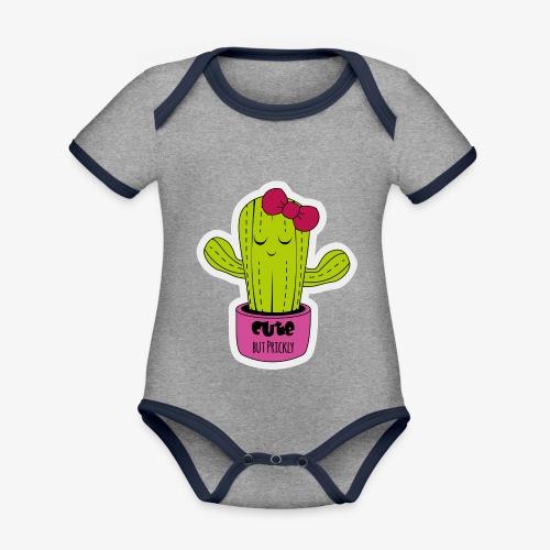 Cute Cactus Girl - Baby Bio-Kurzarm-Kontrastbody