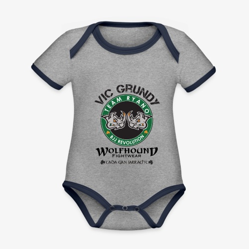 vic grundy back png - Organic Baby Contrasting Bodysuit