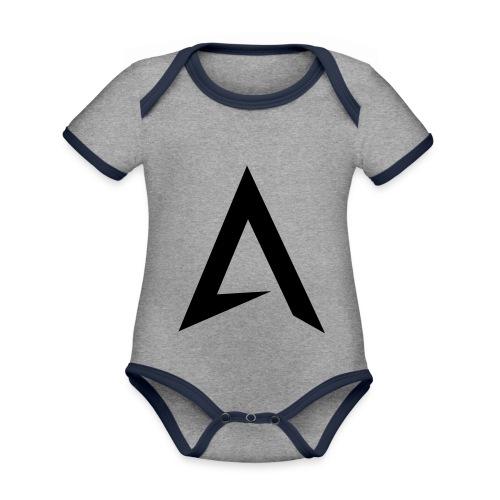 alpharock A logo - Organic Baby Contrasting Bodysuit