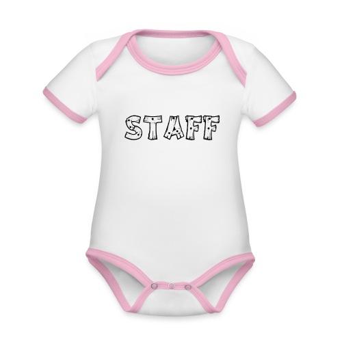 STAFF - Body da neonato a manica corta, ecologico e in contrasto cromatico