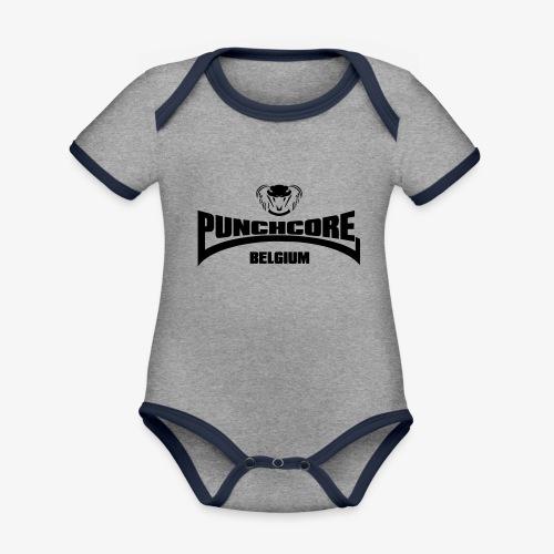 PUNCHCORE BELGIUM - Body Bébé bio contrasté manches courtes