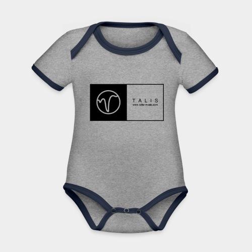 TALIS (2Quadrate) - Baby Bio-Kurzarm-Kontrastbody