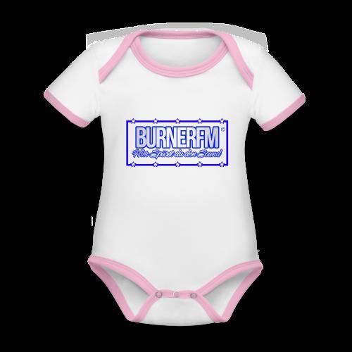 BurnerFM Hier Sürst du den Sound - Baby Bio-Kurzarm-Kontrastbody