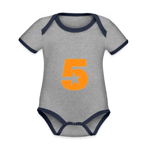 No5 - Organic Baby Contrasting Bodysuit