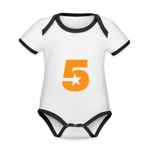 No5 - Organic Baby Contrasting Bodysuit