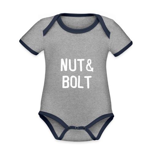 Brand Logo White by Nut & Bolt Apparel - Organic Baby Contrasting Bodysuit