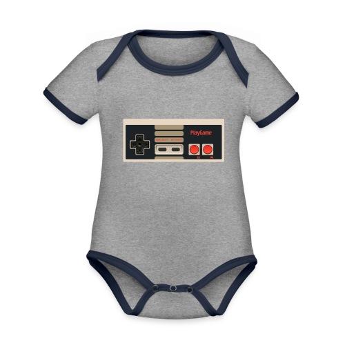 Gaming - Ekologisk kontrastfärgad kortärmad babybody