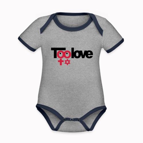 toolove ce - Body da neonato a manica corta, ecologico e in contrasto cromatico