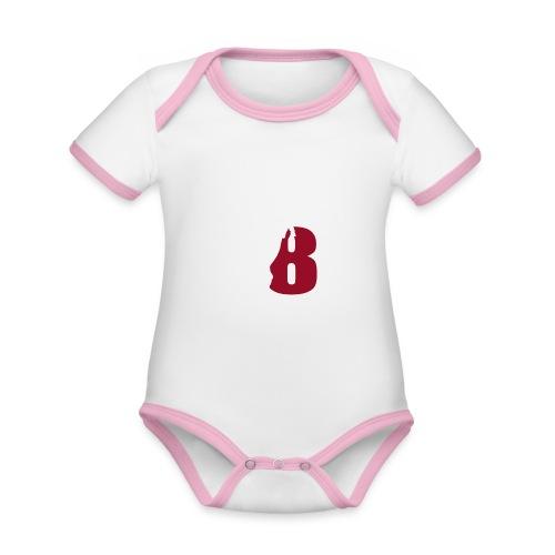 White_18Horses - Ekologisk kontrastfärgad kortärmad babybody