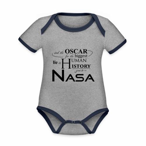 Flat Earth Nasa - Baby Bio-Kurzarm-Kontrastbody