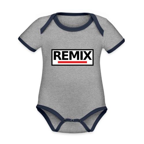 REMIX - Body Bébé bio contrasté manches courtes