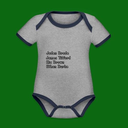 Glog names - Organic Baby Contrasting Bodysuit