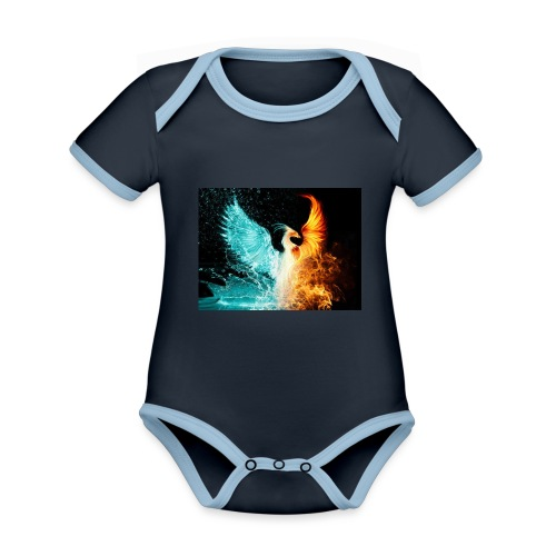 Elemental phoenix - Organic Baby Contrasting Bodysuit