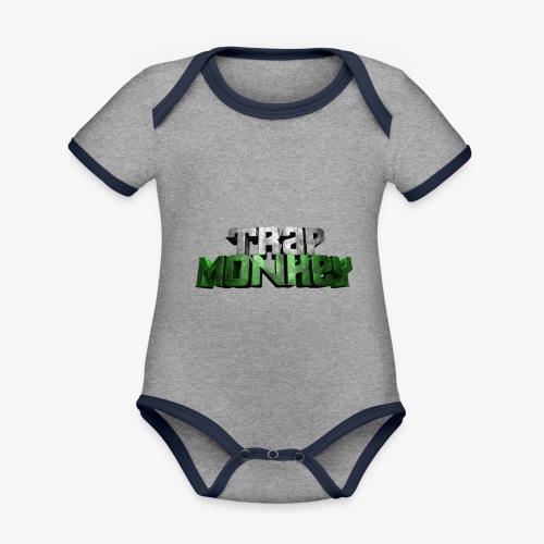 Trap Monkey 2 - Body Bébé bio contrasté manches courtes
