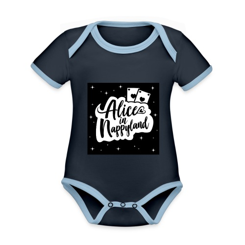 Alice in Nappyland 1 - Organic Baby Contrasting Bodysuit