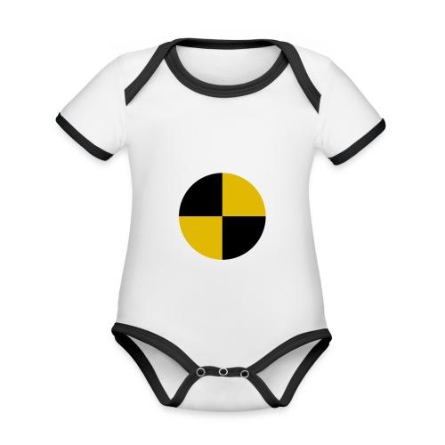 crash test - Organic Baby Contrasting Bodysuit