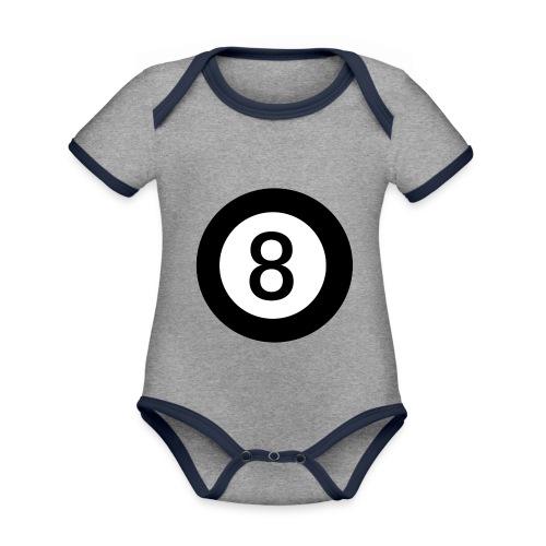 Black 8 - Organic Baby Contrasting Bodysuit