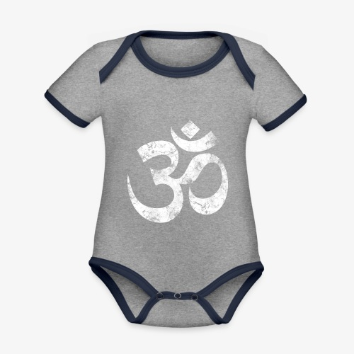 OM - Baby Bio-Kurzarm-Kontrastbody