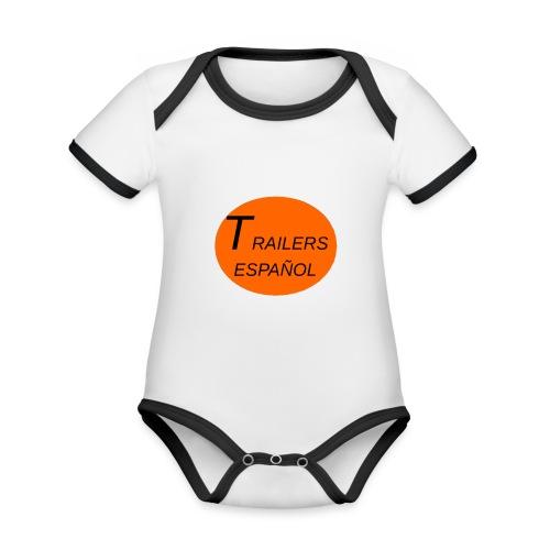Trailers Español I - Body contraste para bebé de tejido orgánico