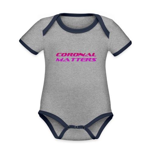 Coronal Matters logo - Vauvan kontrastivärinen, lyhythihainen luomu-body