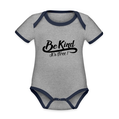 be kind it's free - Organic Baby Contrasting Bodysuit