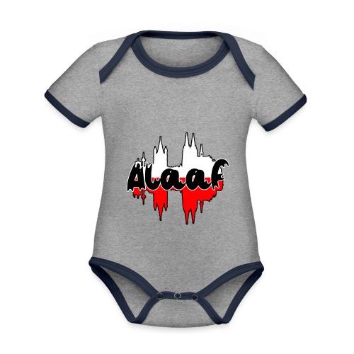 Alaaf - Baby Bio-Kurzarm-Kontrastbody