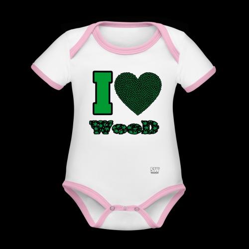 I Love weed - Body Bébé bio contrasté manches courtes