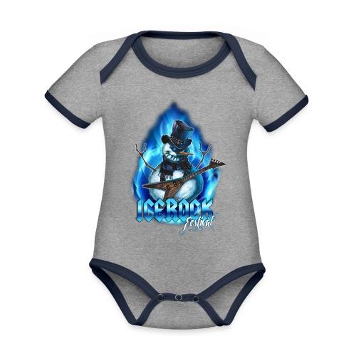 Snowman Evil - Baby Bio-Kurzarm-Kontrastbody
