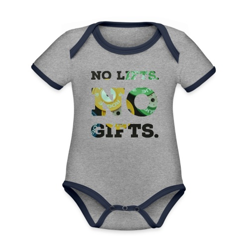 No lifts, no gifts - Baby Bio-Kurzarm-Kontrastbody