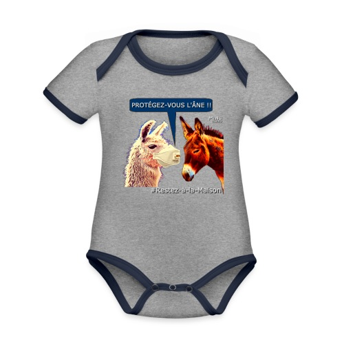 PROTEGEZ-VOUS L'ÂNE !! - Coronavirus - Baby Bio-Kurzarm-Kontrastbody