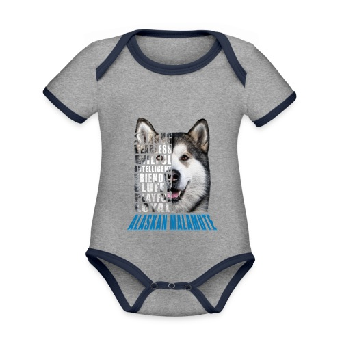 Alaskan Blue - Organic Baby Contrasting Bodysuit