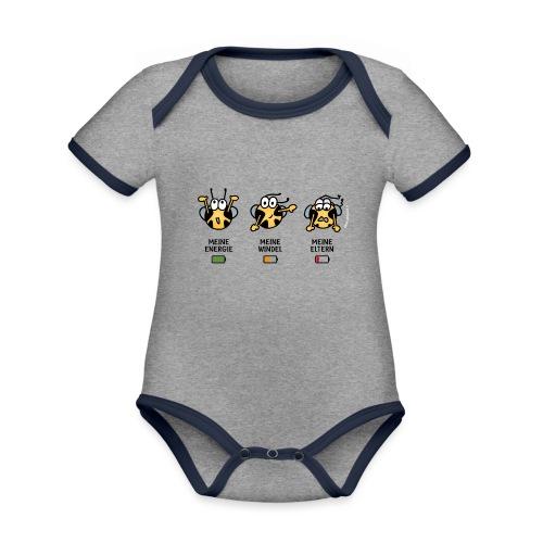 Babyindikator - Baby Bio-Kurzarm-Kontrastbody