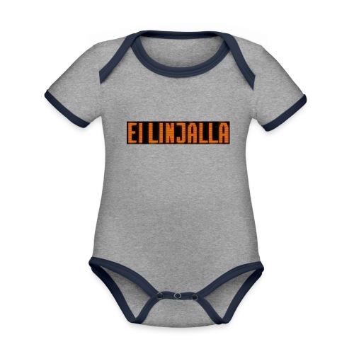 EI LINJALLA - Vauvan kontrastivärinen, lyhythihainen luomu-body
