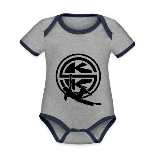 SKK_shield - Ekologisk kontrastfärgad kortärmad babybody