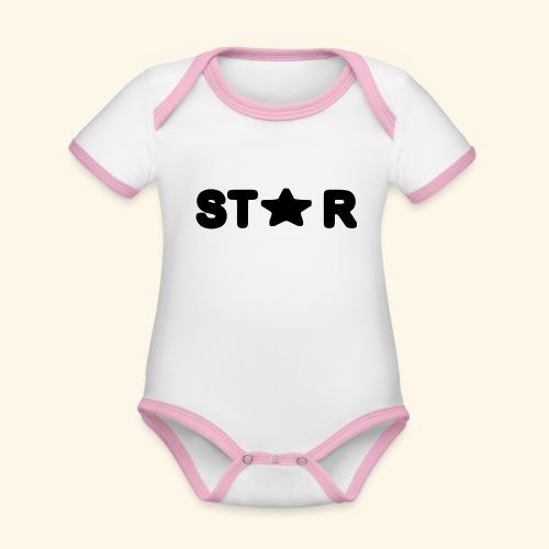 Star of Stars - Organic Baby Contrasting Bodysuit