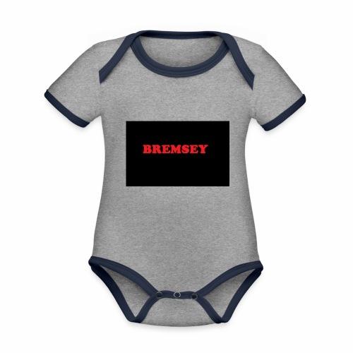 bremsey - Ekologisk kontrastfärgad kortärmad babybody