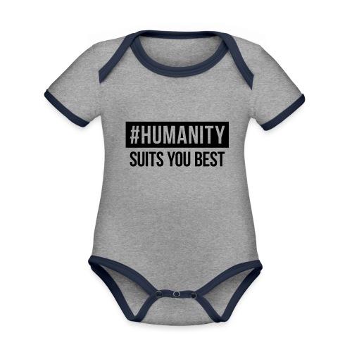 women's Premium T-Shirt #humanity - Baby Bio-Kurzarm-Kontrastbody