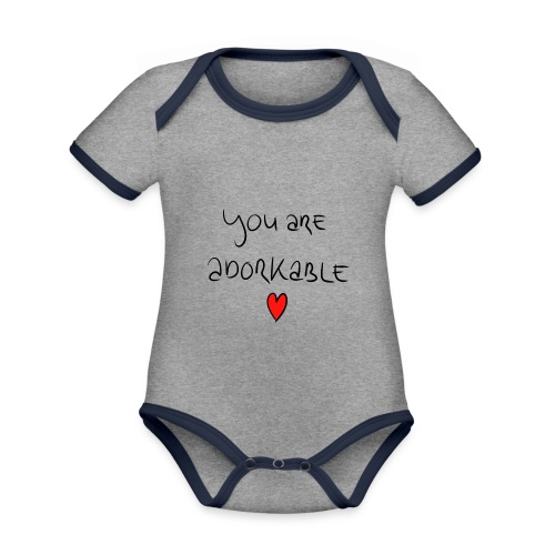 adorkable - Organic Baby Contrasting Bodysuit