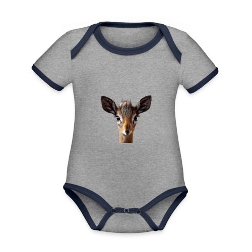 Antilope, Dik - Baby Bio-Kurzarm-Kontrastbody
