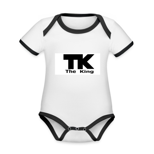 The King med ram - Ekologisk kontrastfärgad kortärmad babybody