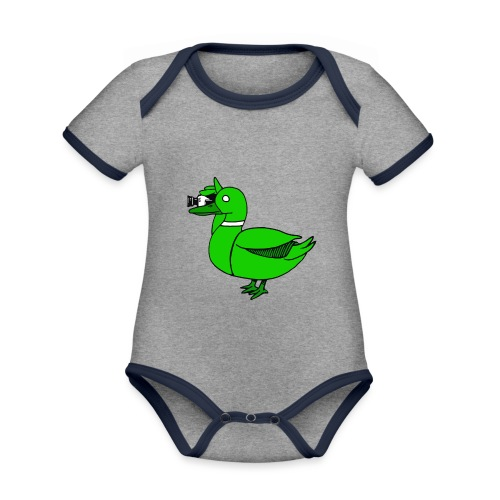 Greenduck Film Just Duck - Kortærmet økologisk babybody i kontrastfarver