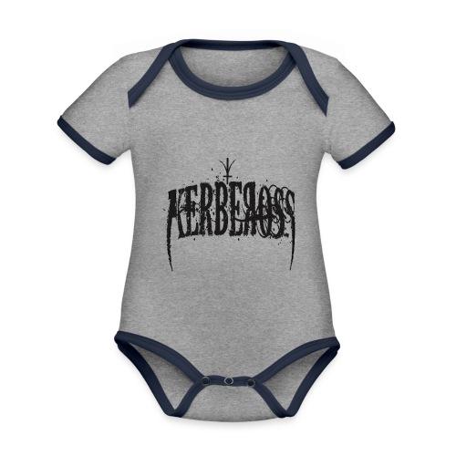 Kerbeross - Baby contrasterend bio-rompertje met korte mouwen