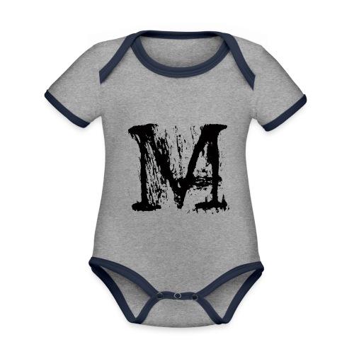 M - Body da neonato a manica corta, ecologico e in contrasto cromatico