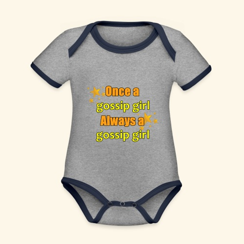 Gossip Girl Gossip Girl Shirts - Organic Baby Contrasting Bodysuit