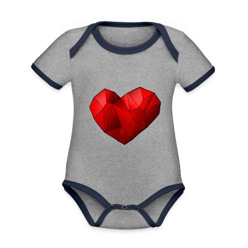 Heartart - Organic Baby Contrasting Bodysuit