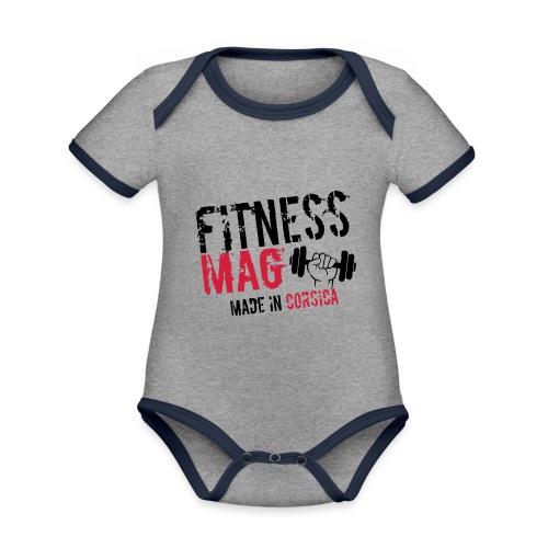 Fitness Mag made in corsica 100% Polyester - Body Bébé bio contrasté manches courtes